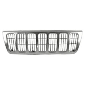 Front Grille Fits Jeep Grand Cherokee 1999 2003 Inner Outer Pieces Ch1200234