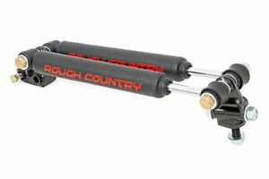 Rough Country Dual Steering Stabilizer Fits 97 06 Jeep Wrangler Tj Cherokee Xj