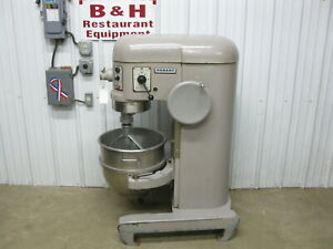 Hobart H 600t Heavy Duty Bakery Pizza Mixer 60 Qt W Stainless Bowl Flat Beater