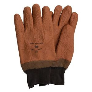 Ansell Winter Monkey Grip Fully Vinyl Coated Jersey Gloves Size 10 12 Pairs