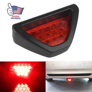 Universal 3rd 12 Led F1 Style Car Rear Tail Brake Stop Light Fog Lamp Bulbs