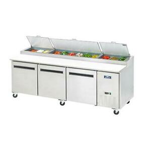 Arctic Air App94 94 3 Section Refrigerated Pizza Prep Table 32 Cu ft