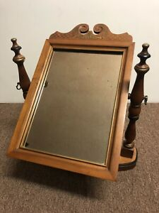 Tell City Chair Company Solid Andover Vanity Mirror Swivel Gold Accents