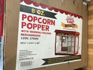 Carnival King Royalty Red Popcorn Popper Machine 8 Oz W Shelf Never Been Used