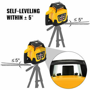 Automatic Self Levelling Rotating Laser Level Rotary Laser 500m Range Red W case