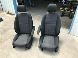 Black Cloth Bucket Seats Plane Train Rv Boat Custom Hot Rod Car Truck Trailer