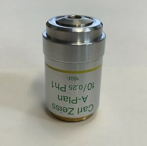 Zeiss A plan 10x 0 25 Ph1 Phase Contrast 160mm Microscope Objective 460418