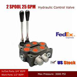 2 Spool Hydraulic Directional Control Valve Double Aacting Cylinder 1 2 Npt
