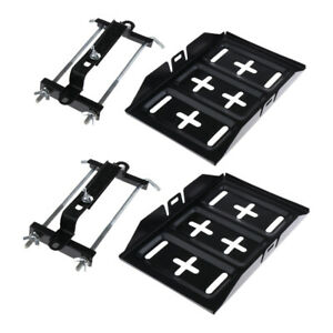 2x Metal Car Battery Tray Adjustable Hold Down Clamp Bracket Kit Universal