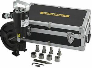 Enerpac Sp 35s 35 ton Capacity Hydraulic Punch With 4 Punch And Die Sets