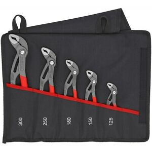 Knipex 001955s5 5pc Cobra Pliers Set In Tool Pouch