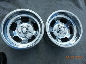 Vintage Western 15x8 5 Slot Mag Wheels Chevy gmc Truck Van 5 On 5 Full size Gm