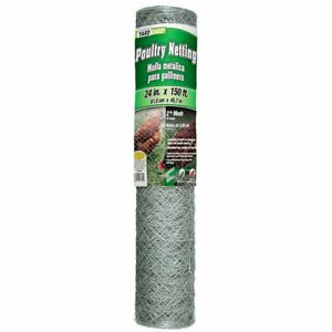 Galvanized Poultry Net Metal Mesh Fencing Chicken Wire 2 Holes Many Sizes
