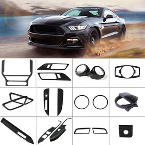 12x Full Set Car Interior Accessories Decoration Trim Kit For 15 19 Ford Mustang