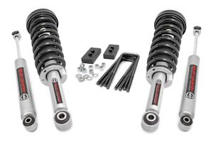 Rough Country 2 Leveling Kit Fit 2009 2013 Ford F150 N3 Lifted Struts Shocks