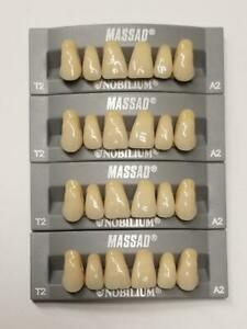 4pcs A2 Upper Massad Premium Anterior T2 Dental Acrylic Teeth False Denture