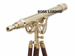 Brass 42 Inch Telescope With Tripod Stand Vintage Marine Nautical Golden Finish