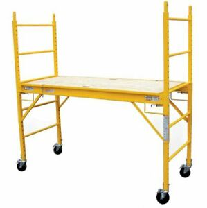 Heavy Duty Scaffolding Platform Ladder Rolling Wheels Door Painting Job Diy Home
