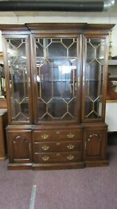 Harden Cherry China Cabinet Breakfront