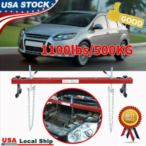 Engine Load Leveler 1100lbs Capacity Support Bar Transmission W Dual Hook Red