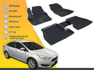 For Ford Focus 2012 2018 Tailored Rubber Set 3d Heavy Duty Mats Tray