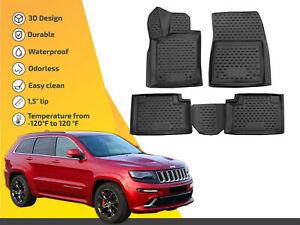 3d Floor Liner Mats Tpe For Jeep Grand Cherokee 2014 up 4pc Full Set