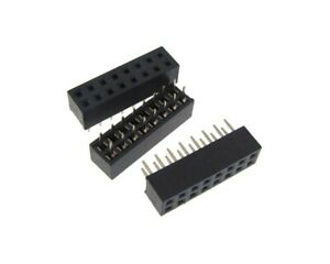 2x8 Pos 2 0mm Pitch Female Socket Header Through Hole Pack Of 10