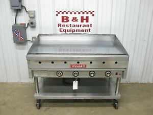 Vulcan 48 Natural Gas Heavy Duty 1 Griddle Flat Top Thermostatic Grill 948a 4