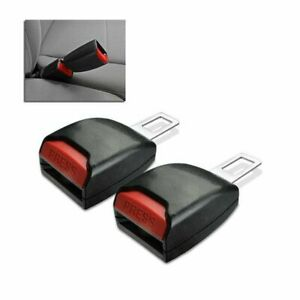 Car Seat Belt Clip Extender Support Buckle Safety Alarm Stopper Canceller 2pcs