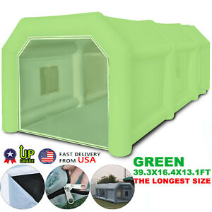 39x16x13ft Inflatable Spray Booth Paint Booth Portable Tent Mobile Workstation