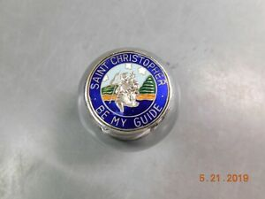Nos Amco Blem Shift Knob St Christopher Shifter Ball 3 8 X 24 Vintage Foreign