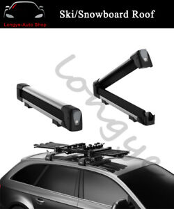 Ski Snowboard Roof Mounted Top Carrier Rack Fits For Audi Q7 2006 2020