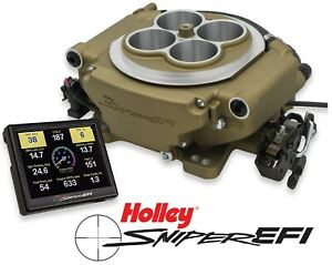 Holley Sniper Efi 550 516 4 Barrel Fuel Injection Conversion Self Tuning Gold