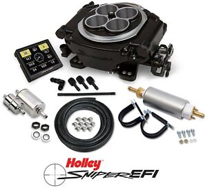 Holley Sniper Efi 550 511k 4 Barrel Fuel Injection Conversion Master Kit Black