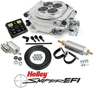 Holley Sniper Efi 550 510k 4 Barrel Fuel Injection Conversion Master Kit Shiny