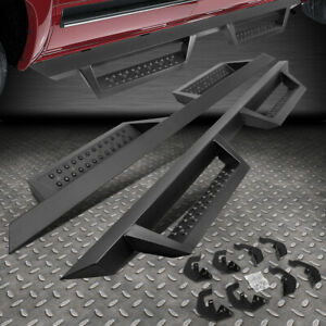 For 07 19 Silverado Sierra Crew Cab Pair 4 5 Side Step Running Board Nerf Bar