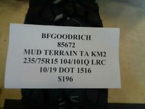 2 New Bfgoodrich Mud Terrian Ta Km2 235 75 15 104 101q Lrc 85672 Q9