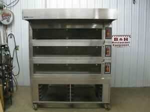 Miwe Condo Baking Station Triple Stack 3 Deck Electric Bakery Oven Co 3 1408