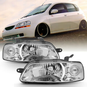 New 2004 2007 Chevy Aveo 06 08 Aveo5 Hatchback Headlights Headlamps Left Right
