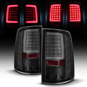 Smoked 2009 2018 Dodge Ram 1500 10 18 2500 3500 Led Tube Tail Lights Brake Lamps