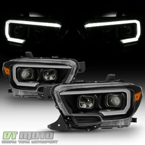Led Sequential Signal Headlamps For 2016 2019 Toyota Tacoma W O Drl Headlights