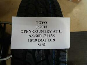 1 New Toyo Open Country At Ii 265 70 17 113s Tire Wo Label 352010 Q9