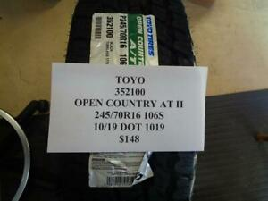 2 New Toyo Open Country At Ii 245 70 16 106s Tires W Label 352100 Q9