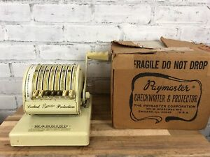 Vintage Paymaster Check Writer With Key Series X 550