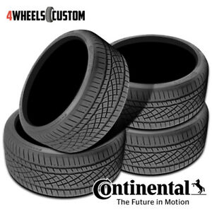 4 X New Continental Extremecontact Dws06 245 50r18 1w All season Radial Tire