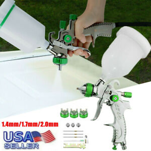 2008hvlp Paint Air Spray Gun Kit Gravity Feed Car Primer 1 4mm 1 7mm 2 0mmnozzle