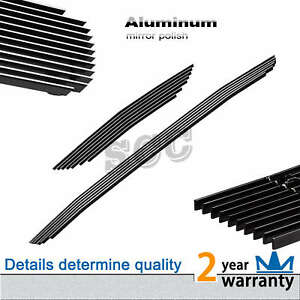 Silver Aluminum Billet Grille Grill Combo Insert Fit Main Upper
