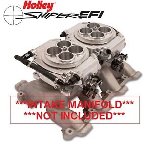 Holley Sniper Efi 550 527 4150 2x4 Dual Quad Fuel Injection Conversion Kit Shiny