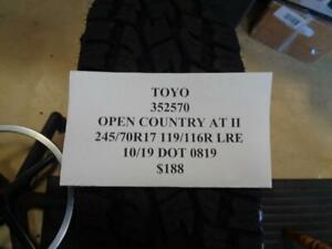 1 New Toyo Open Country At Ii 245 70 17 119 116r Lre Tire Wo Label 352570 Q9
