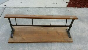Vintage Country Store Butcher Paper 30 Roll Cutter Rack Holder Decor